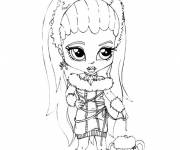Coloring pages Monster High Baby charming