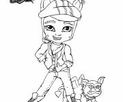 Coloring pages Monster High Baby Clawd Wolf