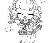 Coloring pages Monster High Baby for children