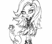 Coloring pages Monster High Baby Lagoona Blue