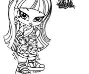 Coloring pages Monster High Baby maternal