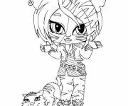 Coloring pages Monster High Baby Tigress