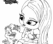 Coloring pages Monster High Baby to decorate