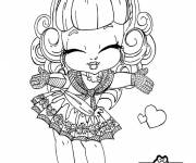 Coloring pages Monster high cute baby