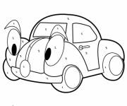 Coloring pages Mystery Car with eyes