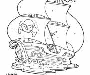 Coloring pages Mystery Pirate Ship