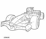 Coloring pages Mystery racing car
