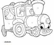 Coloring pages Mystery Train for children