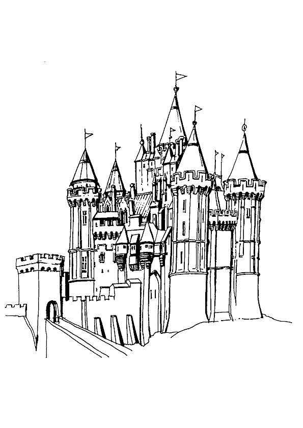Free coloring and drawings A Palace to download Coloring page
