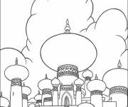 Coloring pages Aladdin and the Sultan's Palace