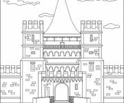 Coloring pages British Palace in black and white