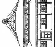 Coloring pages Building in Japan