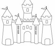 Coloring pages Colored Sand Castle