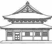 Coloring pages Japanese Palace