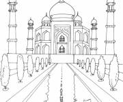 Coloring pages Palace in color