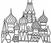 Coloring pages Palace in Moscow