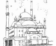 Coloring pages Turkish Palace online
