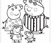 Coloring pages Daddy And Mommy Pig