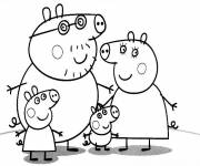 Coloring pages Family Peppa Pig Series