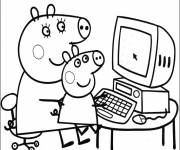 Coloring pages Mama Pig and Peppa
