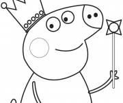 Coloring pages Peppa Pig Easy for Boys