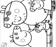 Coloring pages Peppa Pig in black and white