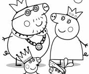 Coloring pages Peppa Pig Royal family