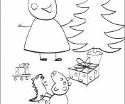 Coloring pages Peppa Pig's birthday