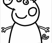 Coloring pages Peppa Simple Pig
