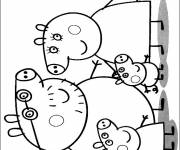Coloring pages The Peppa Pig Family