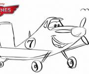 Coloring pages Dusty planes in pencil