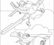 Coloring pages Pixar Planes on Computer