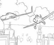 Coloring pages Planes Dusty and Inde