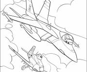 Coloring pages Planes Dusty in race