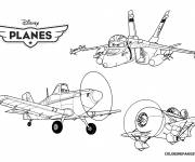 Coloring pages Planes Dusty Series for children