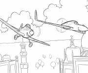 Coloring pages Planes Dusty vectorial