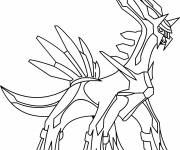 Coloring pages Dialga the Pokemon