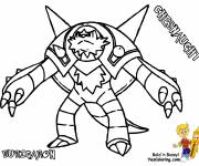 Coloring pages Pokemon Chesnaught