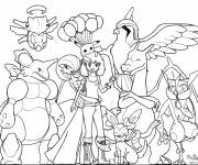 Coloring pages Pokemon Ex to be colored