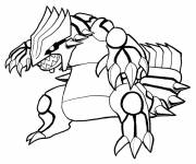 Coloring pages Pokemon Ex vector