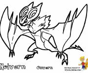 Coloring pages Pokemon Noivern