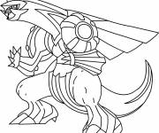 Coloring pages Pokemon Palkia easy