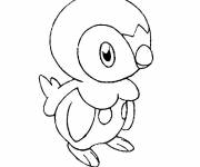 Coloring pages Tiplouf the Penguin Pokemon