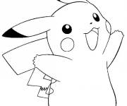 Coloring pages Cute Pikachu in color