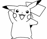 Coloring pages Happy pikachu