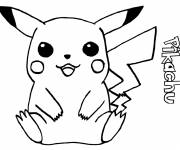 Coloring pages Pikachu easy