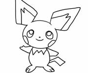 Coloring pages Pikachu for children easy