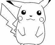 Coloring pages Pokemon Pikachu