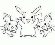 Coloring pages Stylized pikachu