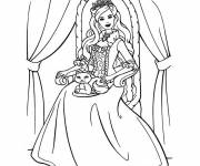 Coloring pages Barbie princess for free